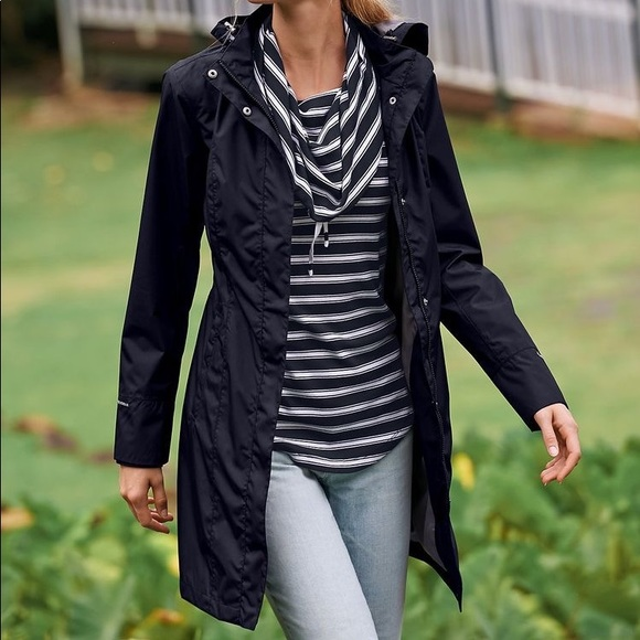 black raincoat Tommy Hilfiger
